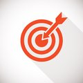 Target icon logo concept with long shadow Royalty Free Stock Photography