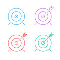 Target icon set Royalty Free Stock Photo