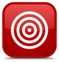 Target icon special red square button Royalty Free Stock Photo