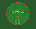 Target id fraud made in d software Stock Images