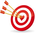 Target love Royalty Free Stock Photography