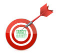 Target market concept illustration design over white Royalty Free Stock Image