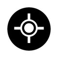 Target point isolated icon