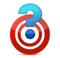 Target with question mark illustration design Royalty Free Stock Image