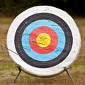 Target with random arrows Royalty Free Stock Images