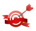 Target and ribbon illustration design over a white background Royalty Free Stock Photo