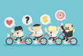 Target salary man illustration cartoons concepts Stock Image
