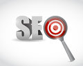 Target seo illustration design over a white background Stock Photo