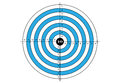 Target shooting, vector, target in blue color