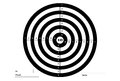 Target for shooting, vector, in white and black colors.