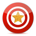 Target the stars concept Royalty Free Stock Images