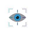 Target symbol icon vector, eye tracking solid logo illustration, pictogram isolated on white.