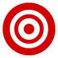 Target symbol isolated on white. Accuracy, target, aiming concep