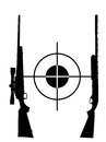 Target and two rifles Stock Images