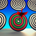 Target winner shows skill performance and accuracy showing Stock Photography