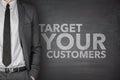 Target Your Customers on Blackboard Royalty Free Stock Photo