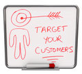 Target Your Customers - Dry Erase Board Royalty Free Stock Image