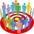 Targeted marketing people group on target Royalty Free Stock Photo
