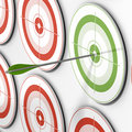 Targeted - target and arrow Royalty Free Stock Image