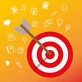 Targeting customer head mind niche target market marketing concept business Royalty Free Stock Photo