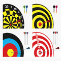 Targets vector set of four different Stock Photo