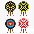 Targets vector set of four different Stock Photos