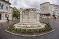 Targu jiu romania october monument of ecaterina teodoroiu on october in targu jiu fisheye view Stock Photo