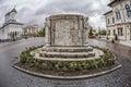 Targu jiu romania october monument of ecaterina teodoroiu on october in targu jiu fisheye view Royalty Free Stock Image