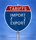 Tariffs sanctions for imports and exports Royalty Free Stock Photo