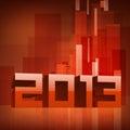 Tarjeta de felicitación de la Feliz Año Nuevo 2013. Fotos de archivo