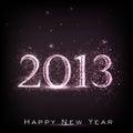 Tarjeta de felicitación de la Feliz Año Nuevo 2013. Fotografía de archivo libre de regalías
