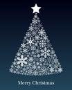 Tarjeta de felicitación del árbol de navidad Fotografía de archivo