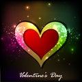 Tarjeta de felicitaci�n brillante del d�a de tarjetas del d�a de San Valent�n Fotos de archivo