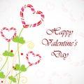 Tarjeta de felicitaci�n feliz del d�a de tarjetas del d�a de San Valent�n Fotografía de archivo