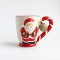 Tarjeta de navidad santa mug roja fotos comunes Fotografía de archivo libre de regalías