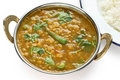 Tarka dal , red lentils curry , indian dish Royalty Free Stock Photos