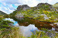 Tarn near Fenella Hut,Kahurangi National Park Royalty Free Stock Photo