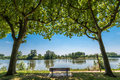 The Tarn river passing by Moissac, France Royalty Free Stock Photo