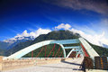 Taroko bridge in hualien taiwan Stock Photo