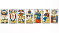 Tarot card draw isolated on white background Royalty Free Stock Photo