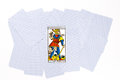 Tarot card matt draw isolated on white background Royalty Free Stock Images
