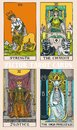 Tarot cards deck colorful illustration with magic and mystic graphic details