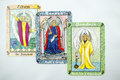 Tarot cards gray background Royalty Free Stock Image
