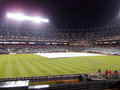 Tarp to cover infield to save it from rain during rain delay Royalty Free Stock Photo