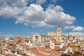 Tarragona cityscape overlooking the old town and cathedral of spain Royalty Free Stock Image