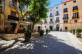 Tarragona street in the midday th august Royalty Free Stock Photography