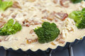 Tart with broccoli Royalty Free Stock Images