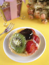 Tart with fruits Stock Images