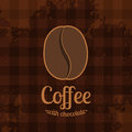 Tartan background with coffee bean dark vector illustration Royalty Free Stock Photos