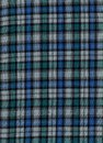 Tartan blue and green cotton fabric Royalty Free Stock Image